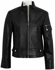 Womens leather jacket custom made style 1078NL image