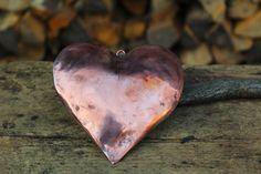 Handmade copper heart (29.00 EUR) by LaCasadelRame