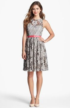 Eliza J Textured Lace Dress