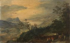 Jan Brueghel (I)  1568-1625 and Joos de Momper (II) 1564-1635 : Landscape (Museo del Prado) 1568-1625 ヤン・ブリューゲル (父)とヨース・デ・モンペル2世 合作
