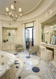 Master bathroom. though i would rather have two individual on ether sides of the master bed room