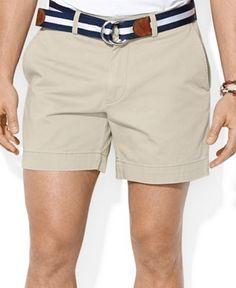 Polo Ralph Lauren Men's Core Classic-Fit Flat-Front Chino Shorts - Shorts - Men - Macy's