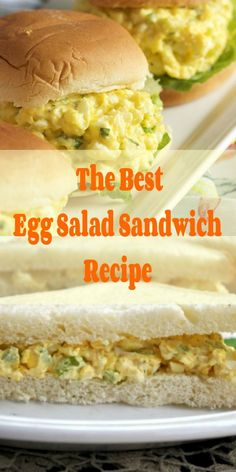 The Best Egg Salad Sandwich RecipeYou're about to make the best egg salad sandwich ever! Cheddar and cream cheese, a little mayonnaise, and bacon with a few diced chives sandwiched Salat Sandwich, Egg Salad Sandwiches, Sandwich Recipes, Egg Recipes, Salad Recipes, Healthy Recipes, Healthy Salads, Healthy Tips, Healthy Food