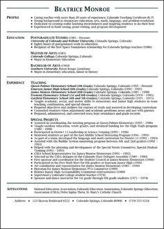 teacher resume | English Teacher Resume Sample | Teacher resumes ...