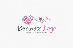 Logo for sale: Thread Heart Lovely Logo