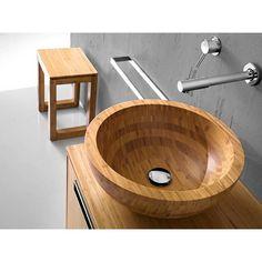 Holzwaschbecken, Aufsatzbecken Massivholz Bambus naturAufsatzwHochwertiges Bambus Waschbecken Ø 43,0 cm - Lineabeta AcquaioWaschbecken aus Massivholz oder Glas und Mattstone stehen momentan hoch im Kurs.Interessanten Massivholz Badezimmermögel geben jedem Badezimmer eine ansprechende, sympathische Facette. Dieses Waschbecken Modell aus Bambus ist ein solcher Eyecather für Ihr Badezimmer und zusätzlich eine moderne Antwort auf das Bestreben immer häufiger bei Möbeln hochwertige…