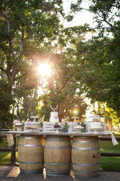 Wedding dessert table.  Country wedding. Walnut Grove wedding (Moorpark, Ca)