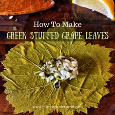 Simply put – Greek stuffed grape leaves. I love these little things! So cute and flavorful! And here's a super easy recipe! Dolmas Recipe Greek, Greek Dolmades, Dolmades Recipe, Grape Leaves Recipe, Wine Leaves, Stuffed Grape Leaves, Allergy Free Recipes, Vegan Recipes, Snack Recipes