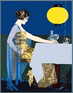 Coles Phillips - Painting for Good Housekeeping Magazine cover (June 1917)