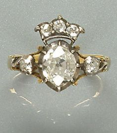 A diamond dress ring, first quarter of the 19th century.