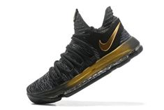 a4abdf170edf 2018 Genuine KD 10 Nike Zoom EP Oreo Gold 897816 001 Kevin Durant Mens Basketball  Shoes