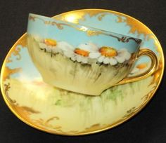 'Daisy Field patches Tea cup and saucer'