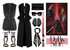 """""""Star Wars: The Force Awakens - Darth Vader"""" by derraavia ❤ liked on Polyvore featuring Jane Norman, McQ by Alexander McQueen, Martin Grant, ALDO, Marc by Marc Jacobs, Karen Walker, Rockins, Maison Margiela, starwars and contestentry"""