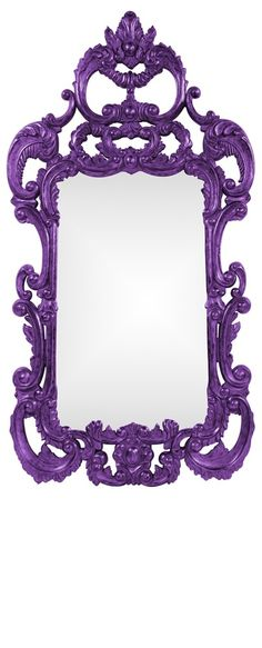 """Wall Mirrors, Grand 72"""" Tall Baroque Mirror, Purple High Gloss Lacquer, so beautiful, inspire your friends and followers interested in luxury interior design & gifts with more beautiful accents like this from InStyle Decor Beverly Hills, Luxury Designer Furniture, Mirrors, Lighting, Art, Accents & Gifts, over 3,500 inspirations to choose from and share with our simple one click Pinterest Pin button enjoy & happy pinning"""