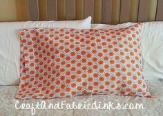 Pillowcase pattern for standard, queen and king.