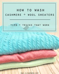 It's sweater season and that means that you probably have a couple that might need to head to the dry cleaners. There's a safer, nochemical, cheaper and better way – wash them at home.  Here's how to wash your sweaters at home: Use amild, liquid detergent (I like the Wool & Cashmere Shampoo by... (read more...)