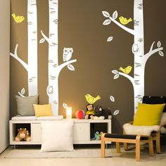 Birch Tree Decal - Baby Nursery Decal - Project Nursery Featured