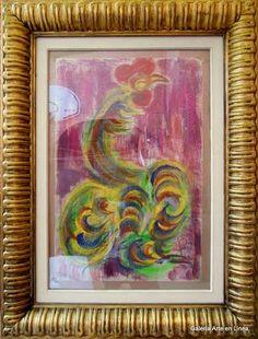 Gallo Chucho Reyes Ferreira Categoría: Pintura.Técnica: Gouache sobre papel de china. Medidas: 74 x 49 cms.Fecha: S/f.Enmarcada: Si. Firmada: Si.  $ 45, 000.00  #art #arte #pintura #painting #escultura #sculpture #dibujo #drawing #watercolor #artedemexico #arteenmexico #mexicancart  #color #emotion #colour #design #form #gael #galeriartenlinea #pasionporelarte