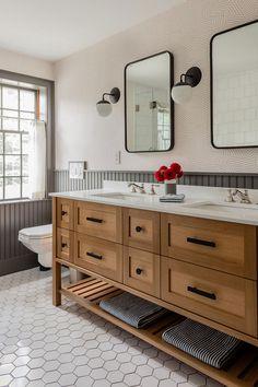 Layout Design, Design Ideas, Bathroom Renos, Wood Vanity, Master Bathroom Vanity, Bathroom Sconces, Bathroom Vanities, Shiplap Master Bathroom, Ikea Bathroom Lighting