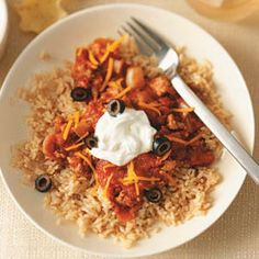 Turkey and Rice recipe.  This looks fast and easy for the ground turkey in my freezer.