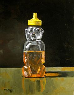 Honeybear painting by Craig Stephens from 'The Classic Honeybear In Art and Design'.