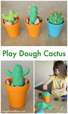 Make Your Own Cactus Play Dough Activity