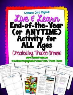 Free Live & Learn End-of-the-Year (Or Anytime) Activity for ALL Ages