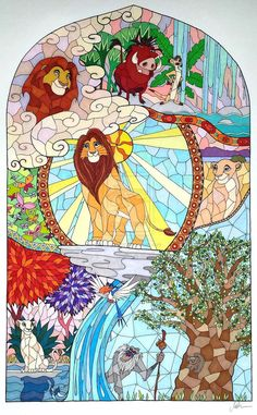The Lion King Stained Glass