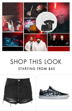 """""""All my friends are heathens, take it slow// Twenty One Pilots"""" by antisocial-vagabond ❤ liked on Polyvore featuring Topshop and Vans"""