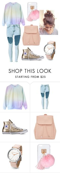 """""""basic 👻"""" by iulia-ab ❤ liked on Polyvore featuring Converse, New Look and Ashlyn'd"""