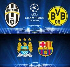 Match day!  Juventus - BVB  ManCity - Barca