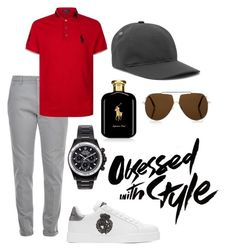 """Sporty"" by pitaa29 on Polyvore featuring Dondup, Ralph Lauren, Dolce&Gabbana, Tom Ford, A.P.C., Mad Collections, men's fashion and menswear"