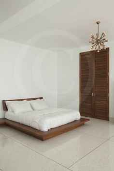 The bedroom of a private residence done with our cast in situ terrazzo flooring!