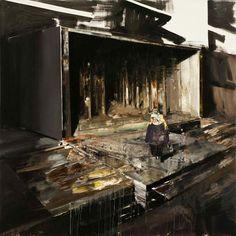 Adrian Ghenie, Pie Fight Study 2, 2008, oil on canvas, 55 x 59 cm © Nicodim Gallery