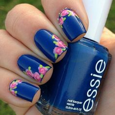 Blue rose nailart #blue #rose #nailart #nails