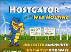 Get Hostgator for 1 cent with coupon code 1 PENNYTOKEN: http://get-hg.com/hostgator-discount/hostgator-penny-coupon/ - Click View Web Hosting/select Baby plan/Order Now/select monthly billing cycle enter coupon code middle (left) of the sign up page. Get your website started on Hostgator. Baby hosting plan has unlimited domain hosting. Hostgator gives you many free options to create your website. You also have professional services option as well.