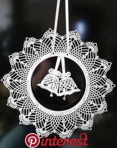Best 12 Elegant Christmas decoration – snowflakes mobile – holiday decor – crochet snowflakes and wood – SkillOfKing. Crochet Christmas Decorations, Crochet Decoration, Crochet Ornaments, Holiday Crochet, Crochet Snowflakes, Handmade Ornaments, Christmas Wreaths, Christmas Crafts, Christmas Christmas