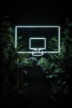 Neon Basketball Hoop
