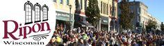 Main Street, Ripon, Wisconsin. I love a parade!