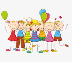 Happy children PNG and Clipart