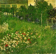 Daubigny's Garden, 1890 by Vincent van Gogh. Post-Impressionism. landscape. Van Gogh Museum, Amsterdam, Netherlands