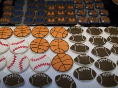 Cookies for a sports themed baby shower