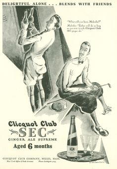 Gatsby-era Ads - Clicquot Club SEC Ginger Ale