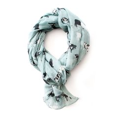 Cows blue scarf - Gogo Chic Jewellery & Fashion Accessories