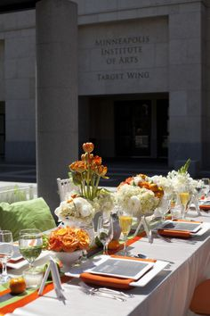 Indoor and Outdoor Citrus Inspired Wedding Decor - Junebug's Wedding Blog - Celebrating the Best in Wedding Style, Fashion, Photography and Decor
