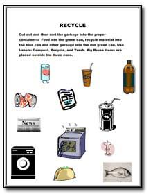 Reduce, Reuse, Recycle Worksheet: Look at the items pictured below ...