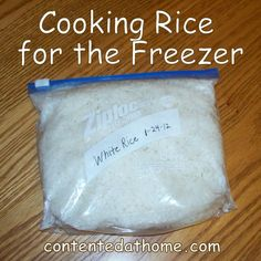 Cooking Rice for the Freezer {Batch Cooking}