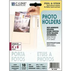 C-Line Peel and Stick Clear 4x6-inch Photo Holders