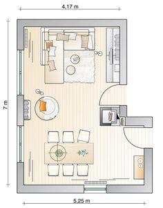 Klare Trennung von Wohn- und Essbereich - Wohnzimmer - [SCHÖNER WOHNEN]
