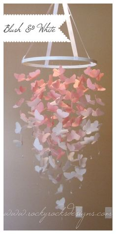 Large Vellum Butterfly Mobile  2 COLORS by RockyRocksDesigns, $65.00